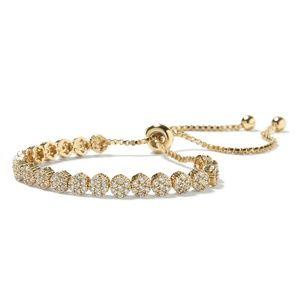 BR Sparkle Circle Bracelet in Gold color